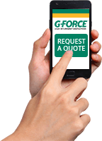 Customer uses mobile device to request a quote